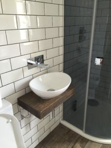 Carly contacted us on eBay as she was looking for a shelf big and strong enough to hold her bathroom basin with the use of her own fixings. She went for a chunky 12x3 section size, we're all delighted with the end result, and Carly's about to order some of our Floating Shelves to match!