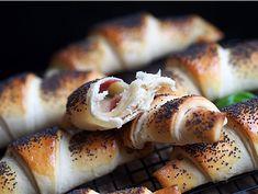 Horn m/ ost, basilikum og salami