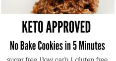Keto No Bake Cookies In 5 Minutes Recipe