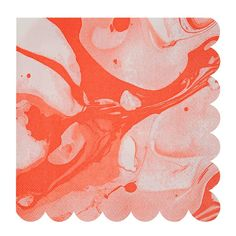 Orange Neon Marble Napkins By Meri Meri