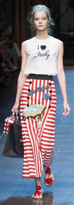 Dolce & Gabbana Spring Summer 2016 RTW Milan Fashion Week