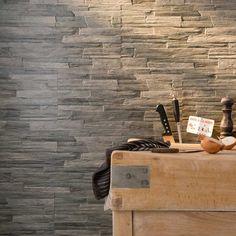 Carrelage sol et mur muretto gris frezza 30 x 60 cm for Carrelage ardoise castorama