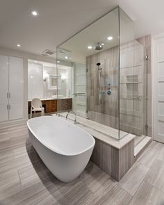 Ensuite Shower with bath