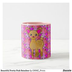 Beautiful Pretty Pink Reindeer Two-Tone Coffee Mug #Onmeprints #Zazzle #Zazzlemade #Zazzlestore #Zazzleshop #Beautiful #Pretty #Pink #Reindeer #Two #Tone #Coffee #Mug #Zazzlestyle Tea Mugs, Coffee Mugs, Christmas Card Holders, Christmas Cards, Pretty In Pink, Special Gifts, Reindeer, Keep It Cleaner, Create Your Own