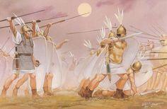 """Roman Infantry, the Battle of Pydna, 168 BC"", Angus McBride Military Art, Military History, Punic Wars, Ancient World History, Roman Legion, Roman Republic, Roman Soldiers, Roman History, Historical Pictures"