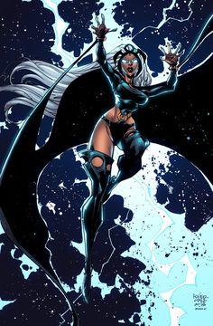 Storm Colors by Alonso Espinoza Drawing by roger cruz Black Panther Storm, Comic Art, Comic Books, Ororo Munroe, Hq Marvel, Sci Fi Comics, Logan Wolverine, Black Girl Art, Comic Games