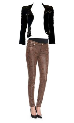 """""""Test"""" by jianing ❤ liked on Polyvore featuring 7 For All Mankind and Balmain"""
