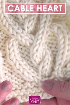Learn How to Knit a Cable Heart with Free Knitting Pattern Video Tutorial by Studio Knit Such a pretty cable pattern for those you love StudioKnit knittingpattern cableknitting knitstitchpattern knitheart heartcable cableheart knittingvideo Easy Knitting Projects, Easy Knitting Patterns, Knitting Videos, Knitting For Beginners, Loom Knitting, Knitting Stitches, Free Knitting, Stitch Patterns, Shawl Patterns