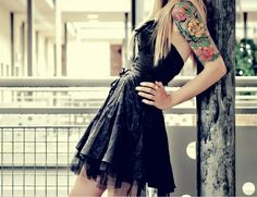 That dress, the tattoo…