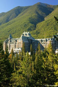 "The Fairmont Banff Springs. The ""castle"" in the Rockies. ~So gorgeous inside. Someday I'm taking my other half there to share that w/ him.~"