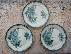 SALE !!! Set of 3 antique French plates