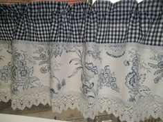 shabby chic kitchen buffet and hutch Small Window Curtains, No Sew Curtains, Rod Pocket Curtains, Valance Curtains, Window Mirror, Farmhouse Kitchen Curtains, Shabby Chic Kitchen, Farmhouse Sinks, Country Curtains