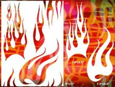 Flame Airbrush Stencil Template Pattern Art Craft Party DIY Painting 012030Y 9