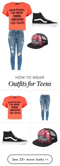 """""""Untitled #13"""" by beautyincleats on Polyvore featuring Frame Denim and Vans"""