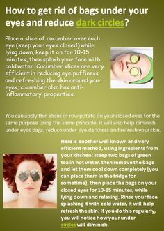 How to get rid of bags under your eyes and reduce dark ...