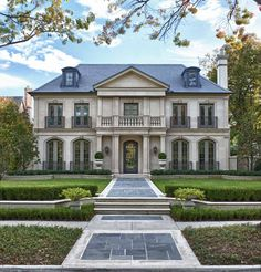 Cast-stone faced French chateau by Isler Homes, Dallas