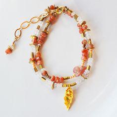 Moonstone Sunstone Beaded Bracelet Gift for Her - Multi-Strand Bracelet Gemstone - Chakra Bracelet - Healing Bracelet - Artisan Bracelet by PETALTOMETALJEWELS on Etsy