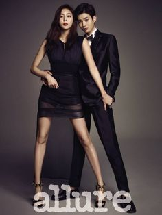 After School Uee Choi Woo Shik in Allure Korea March 2015 Look 1 Cute Couple Poses, Couple Posing, Cute Couples, Japanese Couple, Korean Couple, Uee After School, Couples Modeling, Fashion Model Poses, Korean Wedding