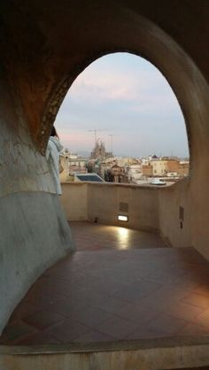 View of La Sagrada Familia from La Pedrera