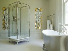 Décor de Provence: Beautiful Inspiration...look at that shower!,