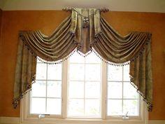 "custom ""raised swags"" | Window Treatments"