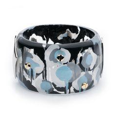 Alexis Bittar Petal Studded Hinge Bracelet ($295) ❤ liked on Polyvore featuring jewelry, bracelets, inverted poppy, gold tone jewelry, bracelets bangle, bangle jewelry, studded jewelry and handcrafted jewellery