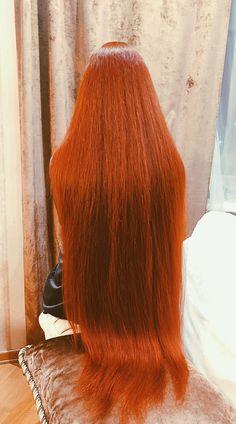 Long Red Hair, Super Long Hair, Hair Ponytail Styles, Silky Smooth Hair, Rapunzel Hair, Beautiful Hair Color, Natural Hair Styles, Long Hair Styles, Permed Hairstyles