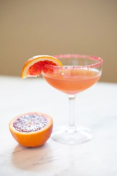 Blood Orange Sidecar Cocktail | Lovely Indeed