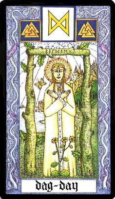 24 Dagaz -Witches Runes by Silver RavenWolf and Nigel Jackson Viking Symbols And Meanings, Rune Symbols, Vikings, Odin And Thor, Elder Futhark Runes, Rune Stones, Asatru, Viking Runes, High Fantasy