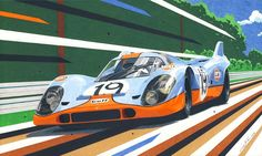 My newest drawing is showing a couple of Wyer Porsche 917's in Monza 1971 race. Size is 60 x 30 cm, it took me some 50 hours of work to complete.