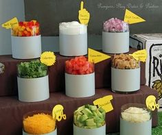 Pampers, Play Dates and Parties: Chili Bar Toppings (Beer Nacho Cheese) Baked Potato Bar, Baked Potatoes, Chili Party, Chili Toppings, Potato Toppings, Do It Yourself Food, Chili Cook Off, Chili Chili, Turkey Chili