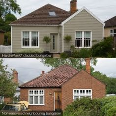 Detached home with HardiePlank cladding in soft green colour