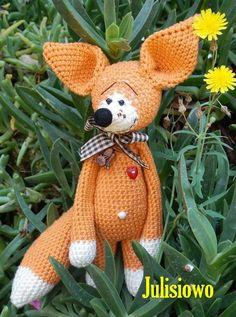 Crochet  pattern fox. crochet fox  PDF pattern