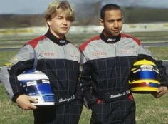 Lewis Hamilton and Nico Rosberg in 2000 Kart Racing, F1 Racing, Formula 1, Formula Baby, Sport Cars, Race Cars, F1 Motorsport, Karts, Nico Rosberg