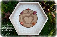 Muladhara Chakra​ / Root Chakra Leather Crystal Grid