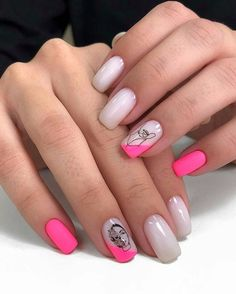 Semi-permanent varnish, false nails, patches: which manicure to choose? - My Nails Square Acrylic Nails, Summer Acrylic Nails, Summer Nails, Short Pink Nails, Pretty Short Nails, Nail Pink, Minx Nails, Square Nail Designs, Nail Art Designs