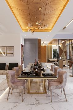 House Ceiling Design, Modern Dining Table, Living Room Decor Apartment, Ceiling Design Living Room, Living Room Partition Design, Dinning Room Decor, Dining Room Contemporary, Dining Room Ceiling, Dining Room Accents