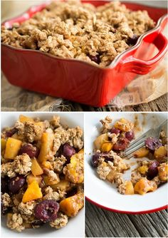 Summer Stone Fruit Crisp 24 Deliciously Healthy Ways To Satisfy Your Sweet Tooth Healthy Junk, Healthy Sweets, Healthy Snacks, Healthy Eating, Healthy Recipes, Quick Healthy Breakfast, Low Calorie Recipes, Food Inspiration, Sweet Recipes
