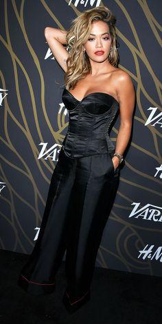 Look of the Day Satin Noir, Beauty P, Jamie Chung, Digital Art Girl, Black Is Beautiful, Beautiful Women, Strapless Dress Formal, Satin Dresses, Rita Ora
