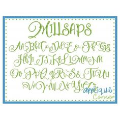 Millsaps Embroidery Font
