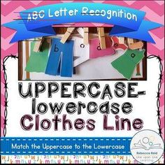 Young students practice matching the lowercase letters to the uppercase letters in this simple Alphabet Recognition Game with a clothes line theme. Learning The Alphabet, Fun Learning, Before Kindergarten, Preschool Prep, Pre K Activities, Uppercase And Lowercase, Letter Recognition, Clothes Line, Matching Games