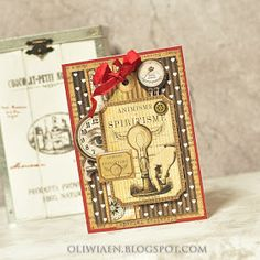ScrapBerry's: a masculin card with Mechanical Illusions by Maja Nowak