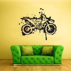 Wall Vinyl Sticker Decals Decor Art Bedroom Design Mural Dirt Bike Moto Motorcycle (Z2008) StickersForLife http://www.amazon.com/dp/B00G2XA0OA/ref=cm_sw_r_pi_dp_-Xtfvb08VMTA6