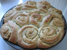 Vegan and nut free Fresh Garlic Herb Rolls. Our bakery's recipe: no dairy, egg or nuts. A true gem of a recipe.