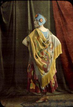 Woman in Colorful Costume  lumiere bros. c.1912 autochrome