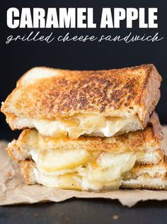 Caramel Apple Grilled Cheese Sandwich - One of the most delicious dessert grilled cheese sandwiches you'll ever have! | Simply Stacie