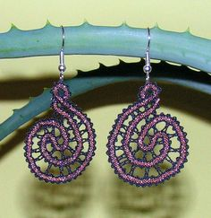 Earrings - Idrija lace (Slovenia)