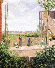 The Athenaeum - Bedford Park, Bath Road (Camille Pissarro - )