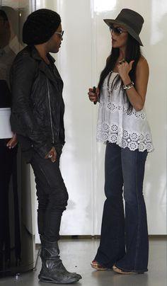 Lenny Kravitz & Nicole Scherzinger at the Australian F1 Grand Prix
