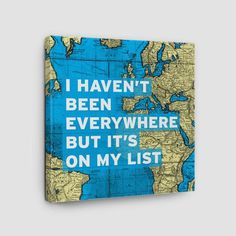 I Haven't Been - World Map - Canvas - airportag
